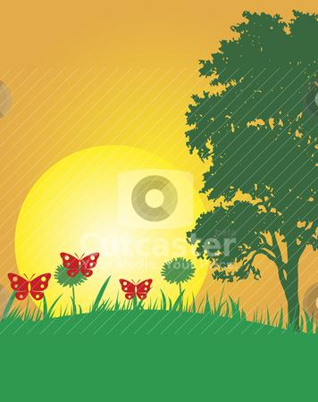 Summer illustration stock vector clipart, Abstract vector illustration of summer by olinchuk
