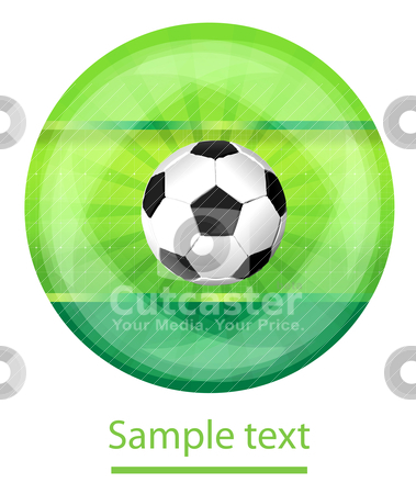 Soccer back stock vector clipart, Soccer background by sermax55