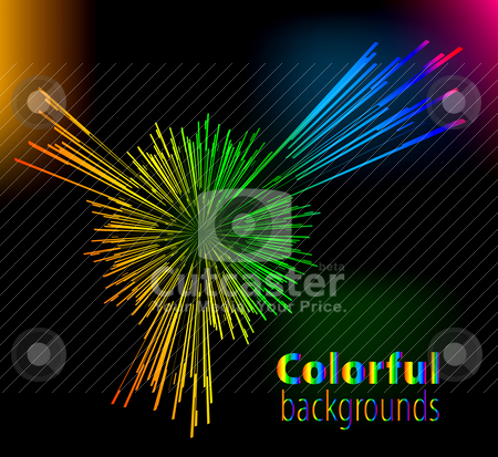 Abstract colorful background stock vector clipart, Abstract colorful background by sermax55