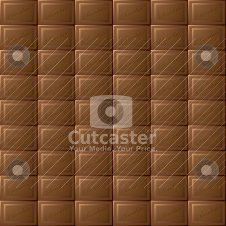 Chocolate seamless background stock vector clipart, Seamless milk chocolate background with blocks of tasty sweets by Michael Travers