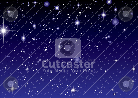 Space view dark star sky stock vector clipart, Dark night sky with sparkling stars and planets by Michael Travers