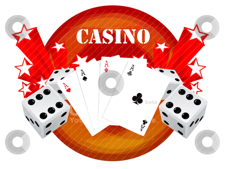 Gambling illustration with casino elements  stock vector clipart, gambling illustration with casino elements  by sermax55
