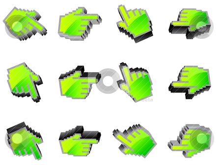Vector hand mouse symbol,vector illustration  stock vector clipart, vector hand mouse symbol,vector illustration  by sermax55