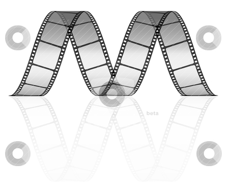 Vector film strip  stock vector clipart, vector film strip as letter M by sermax55