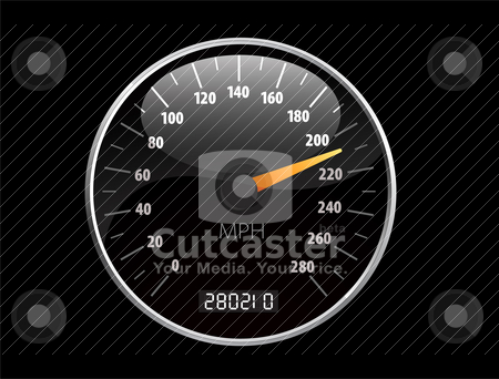 Speedometer Vector illustration stock vector clipart, Beautiful realistic vector speedometer ilustration by sermax55