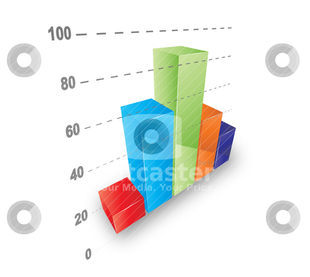 Cool graph stock vector clipart, Cool 3D graph. Vector file. by Bagiuiani Kostas