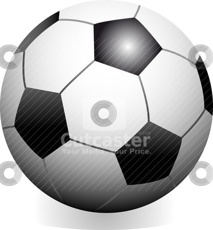 Soccer game ball  stock vector clipart, Vector soccer game ball isolated on white background by olinchuk