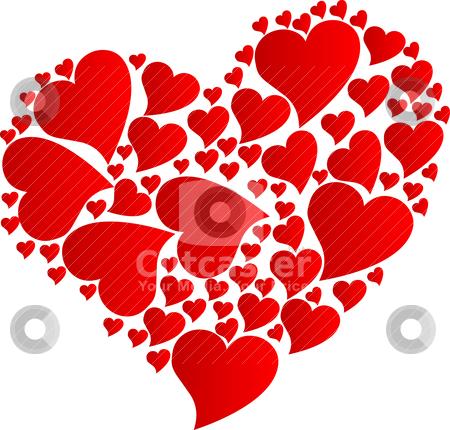 Hearts stock vector clipart, Vector illustration of hearts by olinchuk