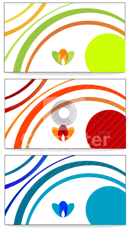 Cards  stock vector clipart, Abstract Vector design of color business cards  by olinchuk