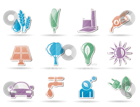 Ecology, environment and nature icons  stock vector clipart, Ecology, environment and nature icons - vector illustration by Stoyan Haytov