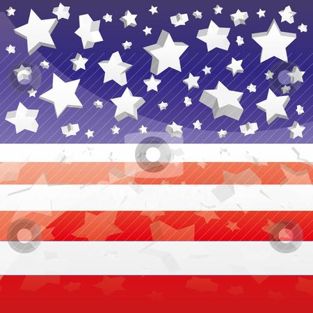 Background with elements of USA flag stock vector clipart, Background with elements of USA flag, vector illustration eps 10.0 by Mykhaylo Kushch