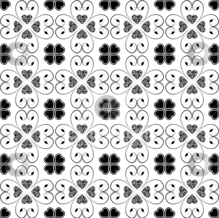 Seamless hearts pattern stock vector clipart, Abstract background of beautiful seamless hearts pattern by Ingvar Bjork
