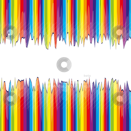 Abstract bacground with rainbow stock vector clipart, Abstract bacground with rainbow strips cutted, vector illustration by Mykhaylo Kushch