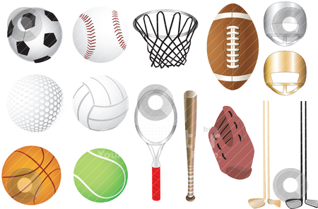 Sports Icons stock vector clipart, Vector Illustration of 15 sports icons siolated. Available in other versions. by Basheera Hassanali