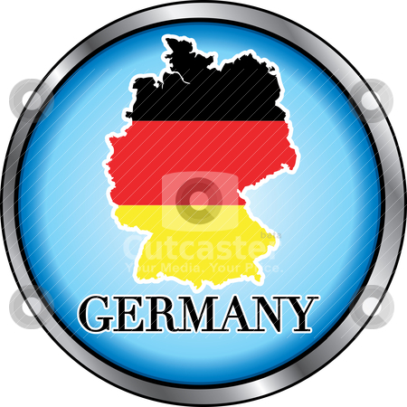 Germany Round Button stock vector clipart, Vector Illustration for Germany, Round Button. Used Didot font. by Basheera Hassanali