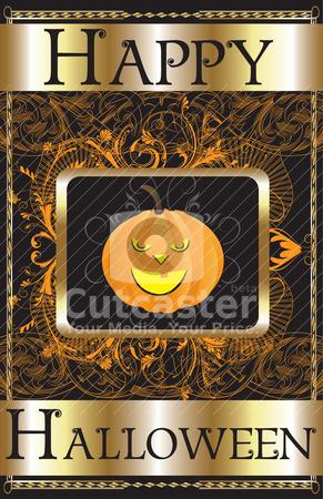 Happy Halloween Poster stock vector clipart, Vector Illustration of a Happy Halloween Poster. by Basheera Hassanali