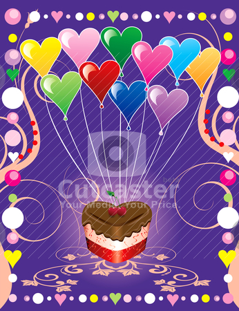 Love Party Cover stock vector clipart, Vector Illustration can be used as a book cover, card or anything you choose. There is room for your text. by Basheera Hassanali