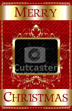 Merry Christmas Template stock vector clipart, Vector Illustration of a Merry Christmas Template Poster. by Basheera Hassanali
