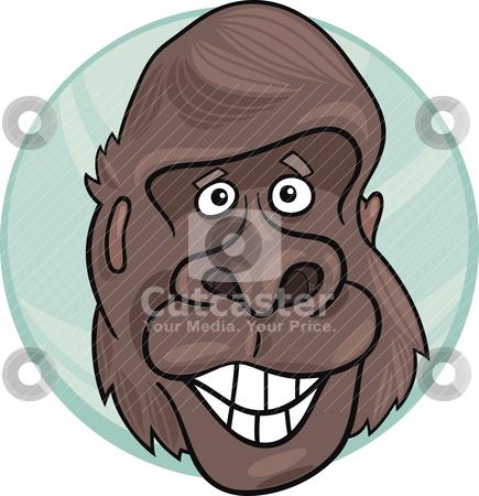 Gorilla ape stock vector clipart, cartoon illustration of funny gorilla ape by Igor Zakowski