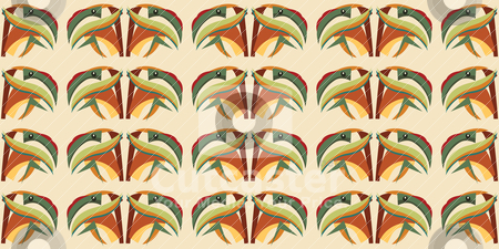 Seamless Parrot Abstract stock vector clipart, Seamless abstract wallpaper background pattern of a tropical parrot head by Eric Basir