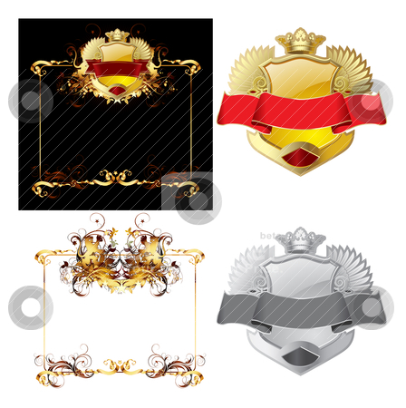 Heraldic elements stock vector clipart, Heraldic elements by pkdinkar