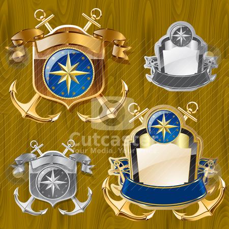 Heraldic elements stock vector clipart, heraldic elements by pkdinkar