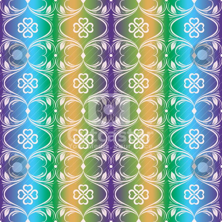 Seamless floral pattern stock vector clipart, Abstract background of colorful seamless floral pattern by Sasas Design