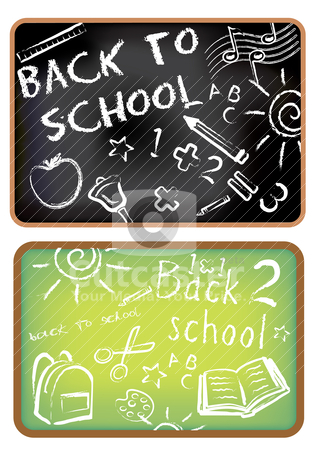 Back to school doodle stock vector clipart, Back to school doodle by zabiamedve
