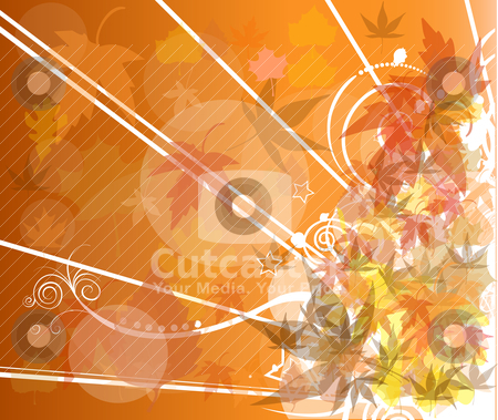 Autumn background stock vector clipart, autumn background by zabiamedve