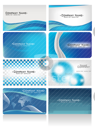 Colorful business cards stock vector clipart, colorful business cards by zabiamedve