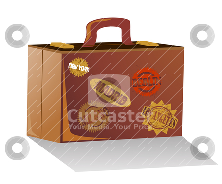Suitcase vector  stock vector clipart, Suitcase vector  by zabiamedve
