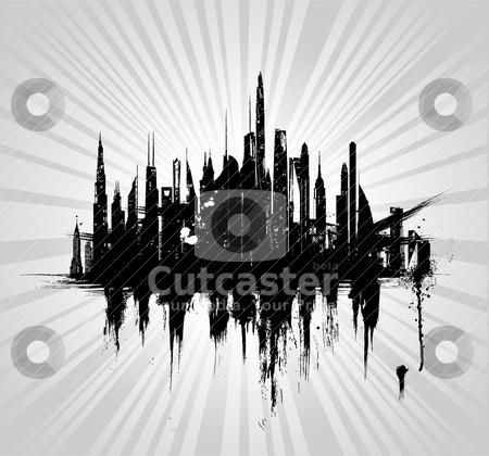 Vector illustration of urban skylines stock vector clipart, Vector illustration of urban skylines  by zabiamedve