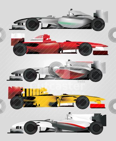 Race Car Vector stock vector clipart, Race Car Vector by zabiamedve