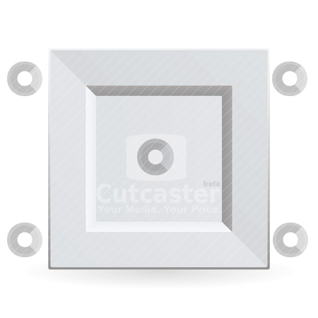 Square china plate stock vector clipart, White china plate clean and square shape with shadow by Michael Travers