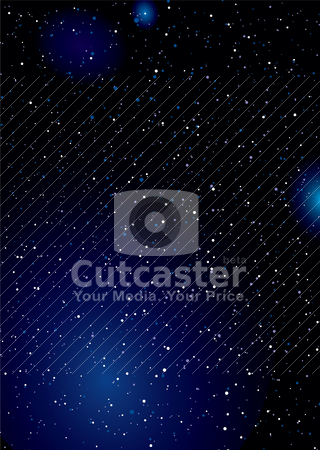 Stella space wallpaper stock vector clipart, Stella space background wallpaper concept with clouds and stars by Michael Travers