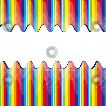 Abstract bacground with rainbow stock vector clipart, Abstract bacground with rainbow, vector illustration by Mykhaylo Kushch