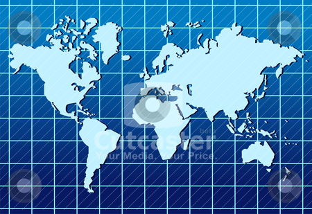 World map lined abstract background stock vector clipart, Abstract background with a map of the world.  by Cienpies Design