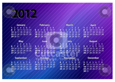 Creative 2012 calender template stock vector clipart, elegant and colorful creative 2012 new years calendar template by scorpydesign