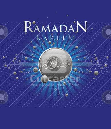 Ramadan Kareem stock vector clipart, Abstract Ramadan Kareem celebration design with modern ornamentation and calligraphy by HypnoCreative