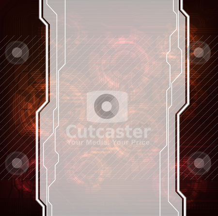 Abstract background stock vector clipart, modern technology theme vector banner. Eps10 layered vector file.  by jazzman