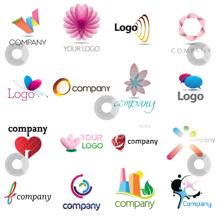 Corporate Design Elemenets stock vector clipart, A collection of corporate emblem designs for your business by HypnoCreative