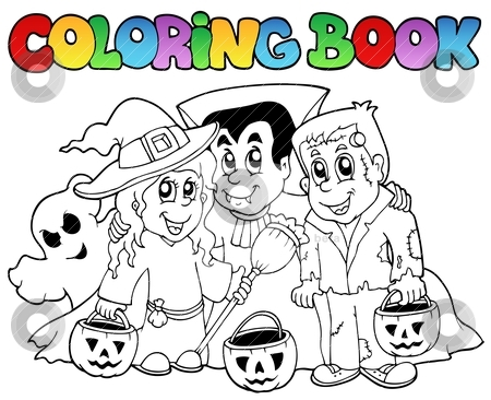 Coloring book Halloween topic 3 stock vector clipart, Coloring book Halloween topic 3 - vector illustration. by Klara Viskova