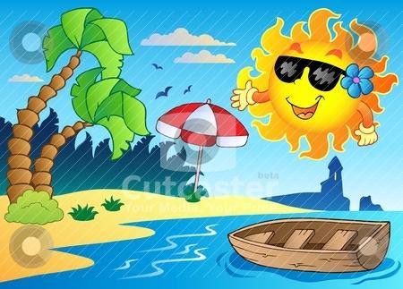 Summer theme image 4 stock vector clipart, Summer theme image 4 - vector illustration. by Klara Viskova