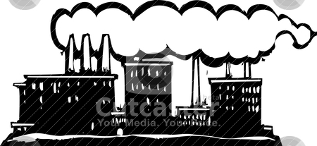 Smoke factory. Smoking stock vector