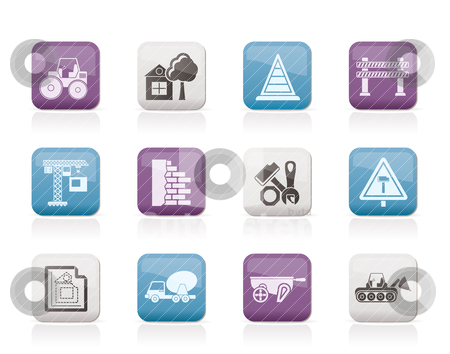 Construction and building Icons  stock vector clipart, Construction and building Icons - vector icon set by Stoyan Haytov