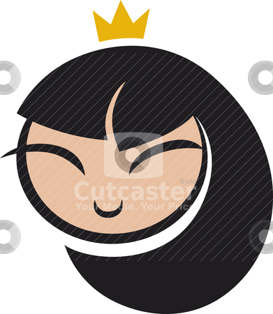 Cartoon princess icon stock vector clipart, icon illustration of cartoon princess by Igor Zakowski