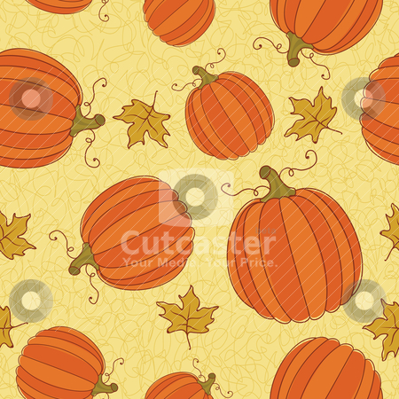 Thanksgiving seamless pattern. stock vector clipart, Thanksgiving seamless pattern. CMYK with global colors file. by wingedcats