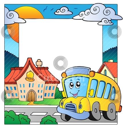 School Theme Frame 5 Stock Vector