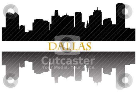 Dallas stock vector clipart, City of Dallas high rise buildings skyline by graphicnado