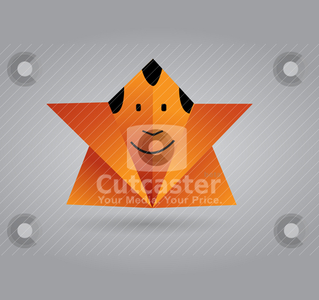 Origami Man stock vector clipart, This image is a vector illustration and can be scaled to any size without loss of resolution. You will need a vector editor to use this file (such as Adobe Illustrator). by vireakchandara